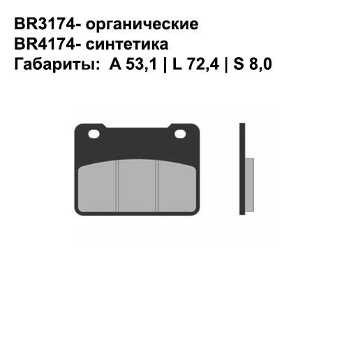 Синтетические колодки Brenta BR4174