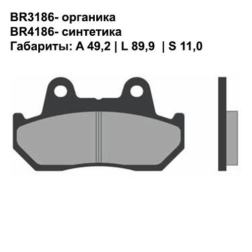 Синтетические колодки Brenta BR4186