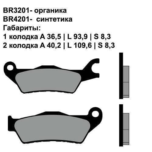 Синтетические колодки Brenta BR4201