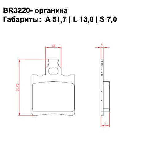Органические колодки Brenta BR3220